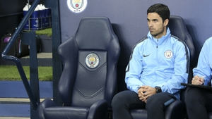 Mikel Arteta will be on duty with Manchester City this evening