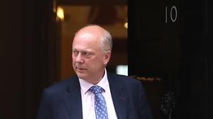 Under pressure UK Transport Minister Chris Grayling