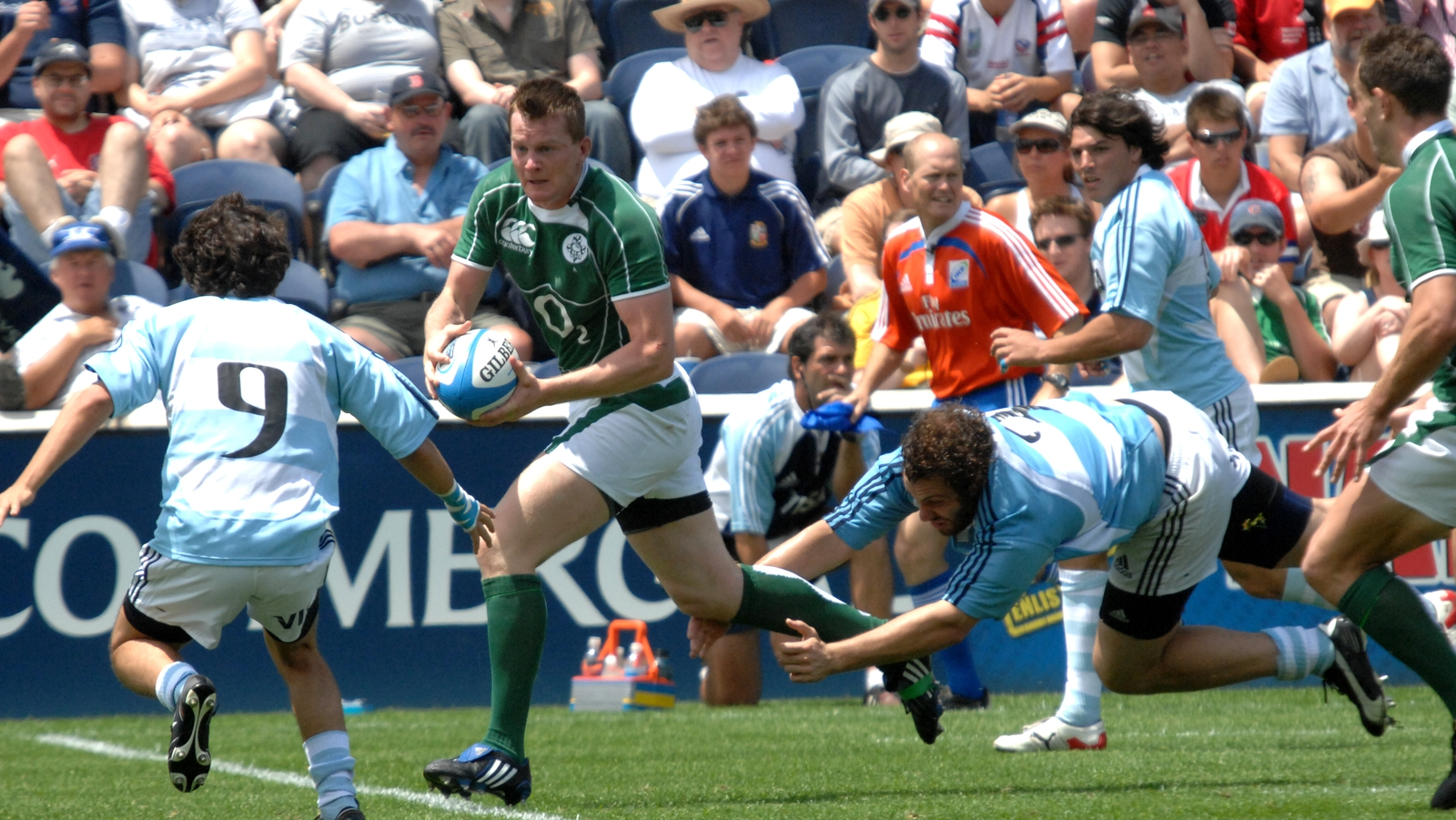 Image - Denis Hurley in action for Ireland A against Argentina A in the 2008 Churchill Cup