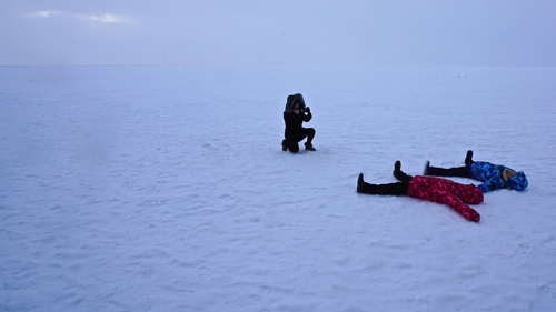 Smile for the camera: tourists in Southern Lapland. Photo: Giles Clarke/Getty Images