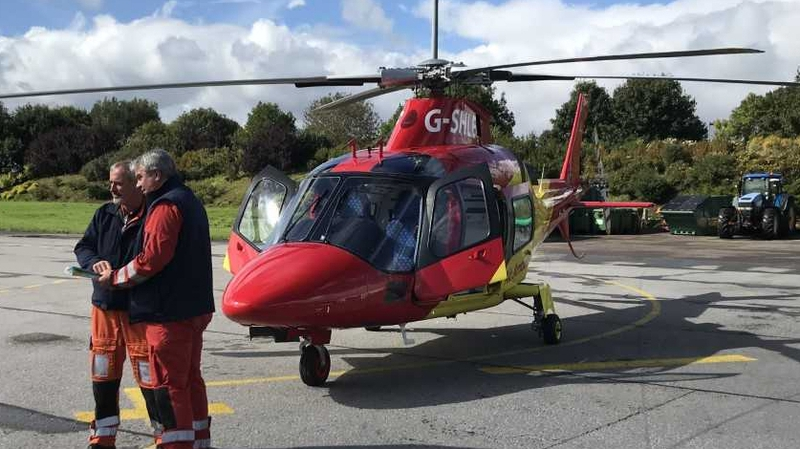 Charity-led air ambulance service inauguration in Cork