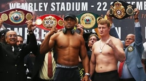 Anthony Joshua And Alexander Povetkin face off at Wembley