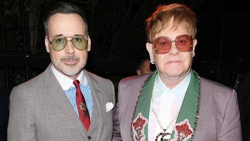 Elton John with husband David Furnish