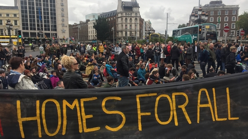 The Take Back the City group staged a 'National Day of Action' over the housing shortage