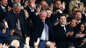 Alex Ferguson salutes the fans at Old Trafford