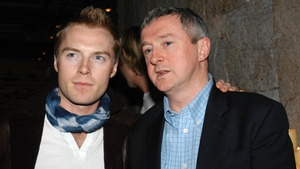 Ronan Keating and former Boyzone manager Louis Walsh pictured in 2002