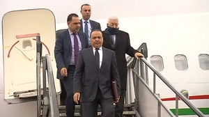 Palestinian President Mahmoud Abbas and Palestinian Foreign Minister Dr Riad Malki visited Ireland today