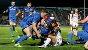 Fergus McFadden scores Leinster's first try
