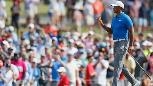 Tiger Woods opened with a vintage display over the opening seven holes