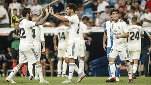 Marco Asensio celebrates his winner