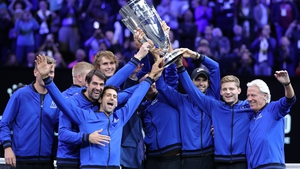 Team Europe celebrate with the Laver Cup