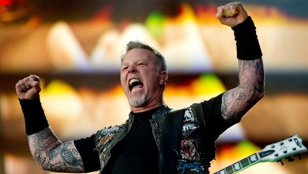 Metallica (James Hetfield, pictured) - Follow in the footsteps of musical heroes Thin Lizzy by playing Slane Photo: Sven Hoppe/EPA
