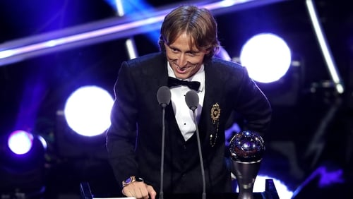 Luka Modric beats Ronaldo and Messi for world footballer of the year