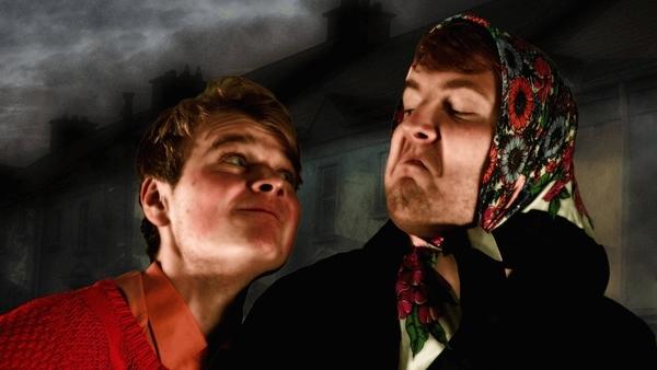 Darragh Byrne (L) and John Ruddy (R) star in Pat McCabe's Frank Pig Says Hello