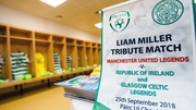 The Celtic-Republic of Ireland dressing room in