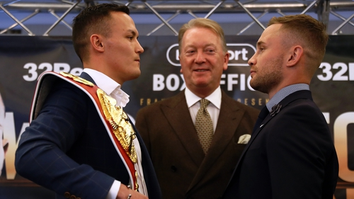 Carl Frampton and Josh Warrington were speaking at the first of three media events this week on a tour