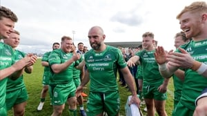 John Muldoon leaves the pitch after the win against Leinster in April