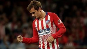Antoine Griezmann celebrates his goal against Huesca