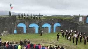 A full military ceremony marked the 80th anniversary of the handover of Fort Berehaven to Lt Billy Rea of the Irish army