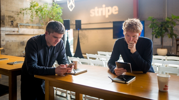 Patrick (left) and John Collison who founded Stripe