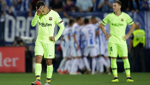 Philippe Coutinho reacts during Barcelona's 2-1 defeat to Leganes