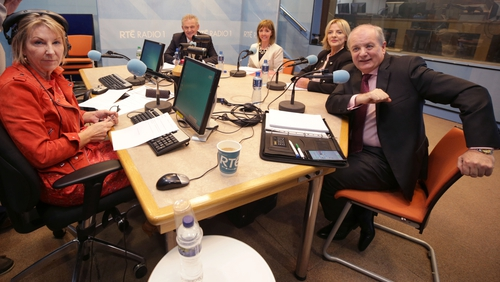 Four of the six Presidential Election candidates in studio with Aine Lawlor
