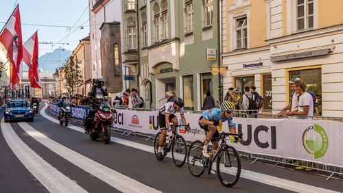 Local rider Laura Stigger took the rainbow after Day 5 in Innsbruck