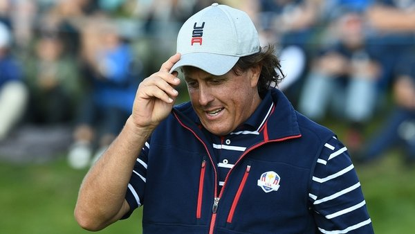 Phil Mickelson at the 2018 Ryder Cup