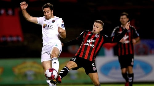 Cork's Gearoid Morrissey and Keith Ward of Bohemians
