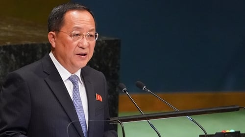 Ri Yong-ho told the UN that without any trust in the US, North Korea would not unilaterally disarm themselves