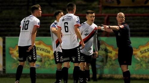 Bohemians players were furious with the decision