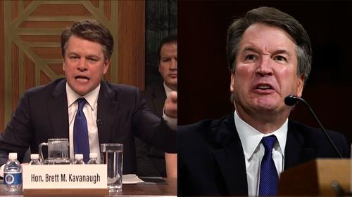 Matt Damon brings energy to Brett Kavanaugh impersonation on Saturday Night Live