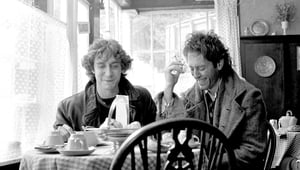 British actors Paul McGann and Richard E. Grant (Photo by Murray Close/Getty Images)