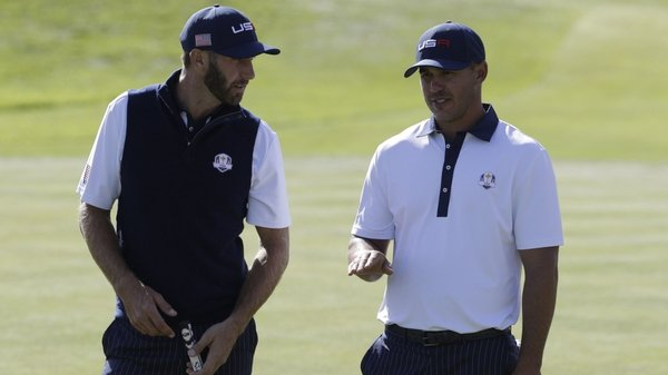 Dustin Johnson and Brooks Koepka appear to have fallen out with each other