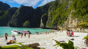 Maya Bay is on Phi Phi Leh island in the Andaman Sea