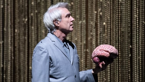 David Byrne onstage at the Royal Concert Hall, Glasgow in June 2018. Photo: Roberto Ricciuti/ Redferns/Getty Images
