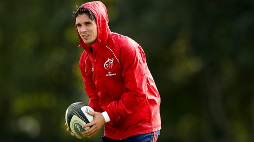 Joey Carbery has five Munster appearances under his belt since his summer move from Leinster