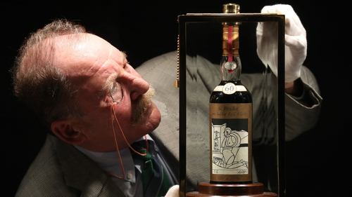 The world's rarest and most valuable Scotch whisky - a bottle of The Macallan Valerio Adami 60 year-old 1926
