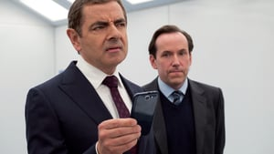 Rowan Atkinson as johnny and Ben Miller as Bough in Johnny English Strikes Again