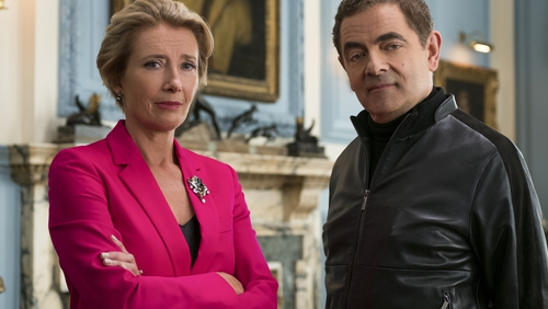 Emma Thompson and Rowan Atkinson in Johnny English Strikes Again