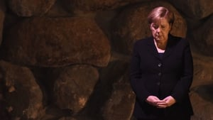 German Chancellor Angela Merkel takes part in a memorial ceremony in the Yad Vashem Holocaust Museum in Jerusalem