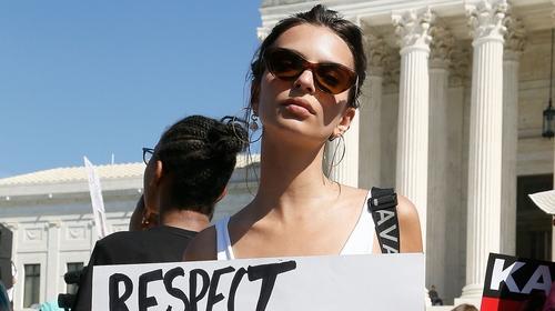 Emily Ratajkowski arrested protesting Brett Kavanaugh's nomination to the Supreme Court