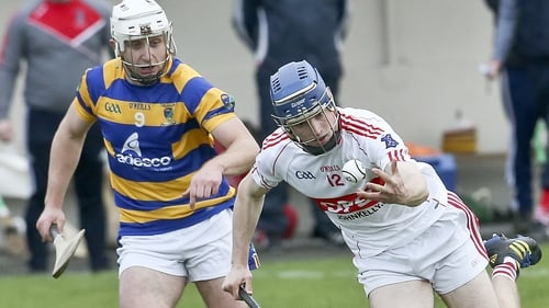 Abbeyside's Maurice Power (L) challenges De La Salle's Cormac McCann in the Waterford SHC semi-final. Photo Sean Byrne