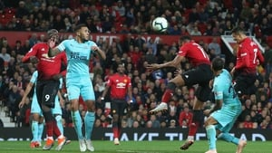 Alexis Sanchez heads home the United winner