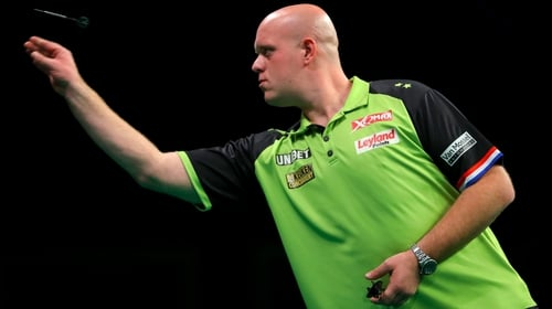 Michael VanGerwen had too much for Peter Wright