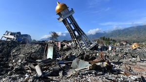 The twin disaster caused widespread devastation on Sulawesi island