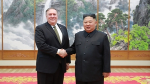 US Secretary of State Mike Pompeo met Kim Jong Un during a trip to Pyongyang yesterday