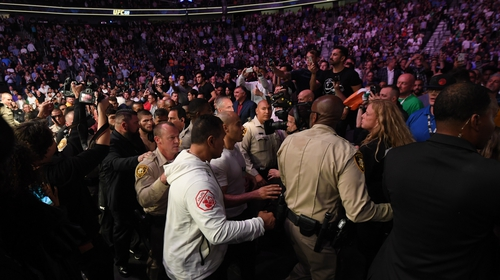Conor McGregor's defeat to Khabib Nurmagomedov sparked violent scenes in Las Vegas.