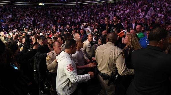 Conor McGregor's defeat to Khabib Nurmagomedov sparked violent scenes in Las Vegas.