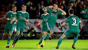 Karl Sheppard celebrates what proved to be the match-winning goal in Cork City's 2-1 defeat of Bohemians at Turner's Cross